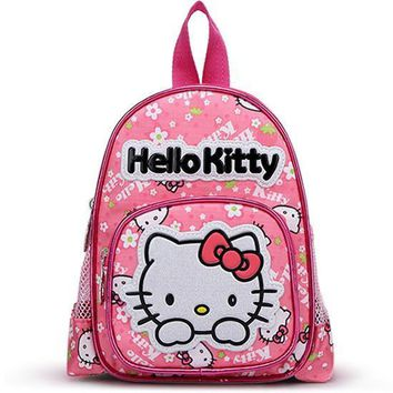 Hello Kitty Children School Bags For Girls Kids Schoolbag Cartoon Kids School Backpacks Mochila