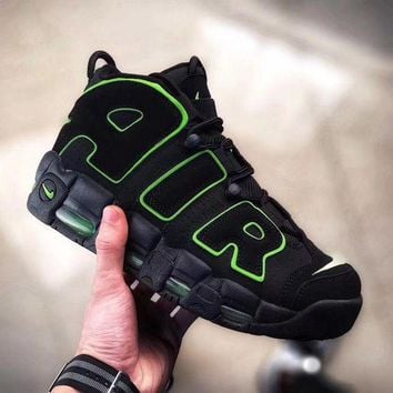 ONETOW Nike Air More Uptempo 'Black&Green' Men Women Sneaker