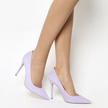Office Hattie Point Court Heels Lilac Suede - High Heels