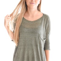 Coffee House Sweater In Olive