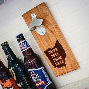 Drink Beer From Here - Bottle Opener