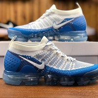 2018 Nike Air VaporMax Flyknit 2.0 White Blue 780349 852 Sport Running Shoes - Best Online Sale