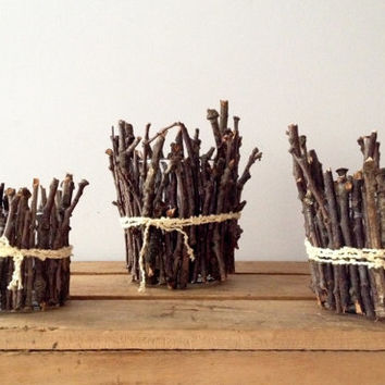 Twig Candle Holders - Tea Light Holder - Fall Decor - Fall Candle Holder - Nature