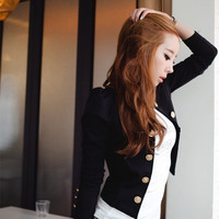 2014 New Spring Fashion Blazer Short Sexy Casual Suits Jacket Outerwear For Women Slim Blazer = 1901145284