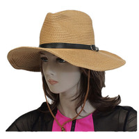 Cow boy style floppy straw hat
