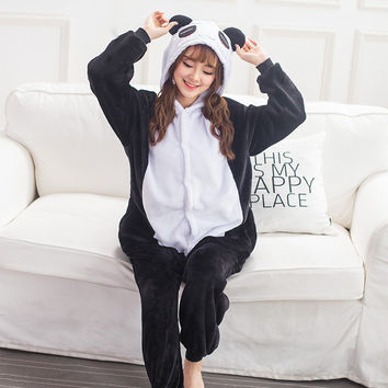 Panda Cartoons Animal Sleepwear [9088397386]