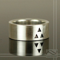 Its Dangerous to Go Alone - Triforce Wedding Band