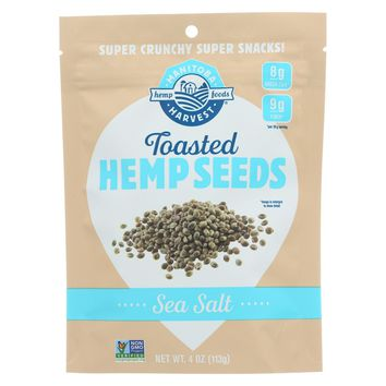 Manitoba Harvest Hemp Seeds - Toasted Sea Salt - Case Of 12 - 4 Oz