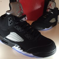2016 Air Jordan 5 Retro Og Black Grey Red Mens 7
