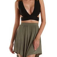Deep V Cut-Out Crop Top by Charlotte Russe