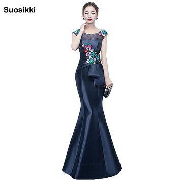 Suosikki Long Evening Dress 2017 Mermaid abendkleider New Arrival Formal Evening Dresses Arabic Evening Gowns robe de soiree