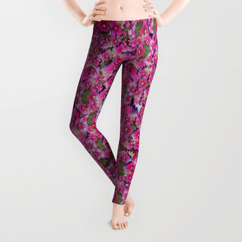 fantasy magnolia tree in a fantasy landscape Leggings by Pepita Selles