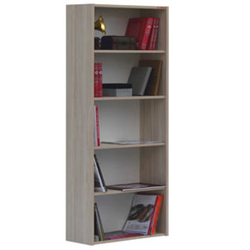 ALPINO BOOKCASE Grey wood effect & White