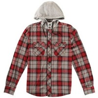 CCS L/S Hooded Flannel Plaid - Men's at CCS