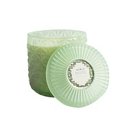 Mint Faceted Jar Volcano Candle Jumbo 30 oz
