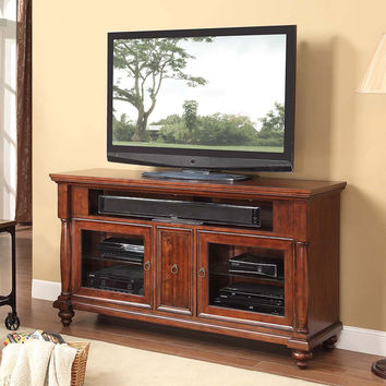 Devonshire 62 Inch Entertainment Cabinet TV Stand Classic Cherry