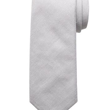 Banana Republic Mens Cotton Tie Size One Size - Grey area