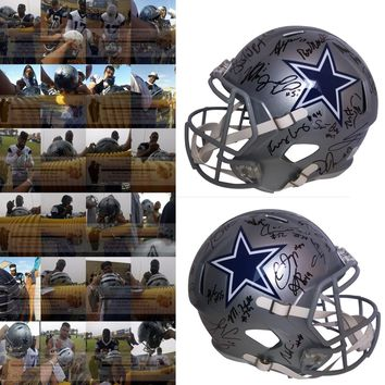 2018 Dallas Cowboys Team Autographed Riddell Speed Full Size Football Helmet, Proof Photos
