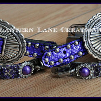 Custom spurs -barrel racing bumper spurs