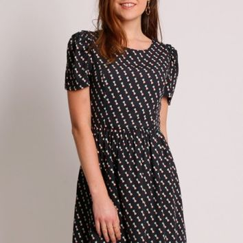 Miriam Bow Printed Dress