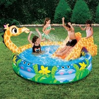 Spring & Summer Toys Banzai Spray 'N Splash Giraffe Pool-a Pool, Slide and Sprinkler in One!