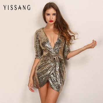 fashion sexy sequin dress
