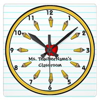 Teachers Wall Clock (Personalized)
