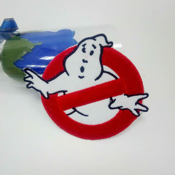 Ghostbusters Patch Embroidered Iron on Ghost Buster Badge Movie EMBROIDERED 7.6*6.5cm