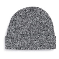 Black and white mixed yarn mini beanie- TOPMAN USA