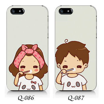 Q-086-Q-087 Couple phone case Ip6/6plus, Iphone4/4s, Iphone5/5s/5c, Samsung s3/s4/s5, Note3 case