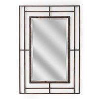Modern Classic Iron Rectangle Wall Mirror (1159) - Illuminada