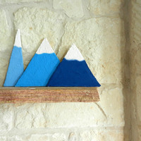 Climb every mountain / mountain home decor / mountain art /  folk art / shelf art