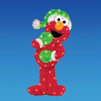 Christmas Yard Art - Sesame Street Elmo