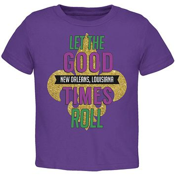 Mardi Gras Let the Good Times Roll Toddler T Shirt