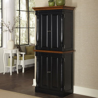 Home Styles Furniture 5008-65 Monarch Black and Oak Pantry