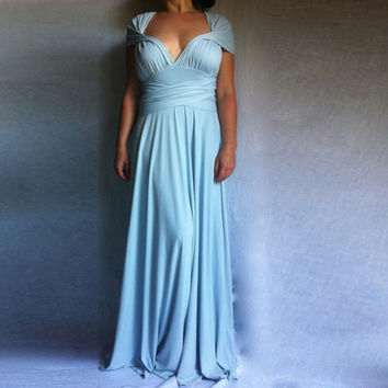 Wrap Convertible Bridesmaid Dress / Infinity Dress Custom order to your size /Sky Blue Dress