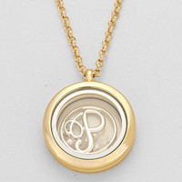 "Floating Monogram ""P"" Necklace Gold"