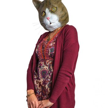 Buster Brown The Cat Realistic Tabby Cat Mask