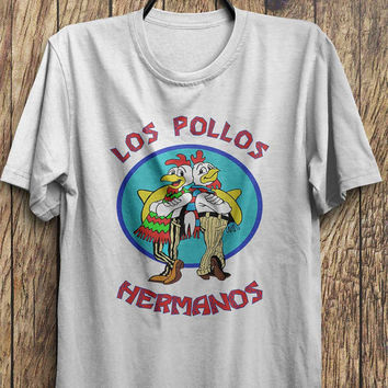 Los Pollos Hermanos - Break Bad T Shirts - Jesse Pink, Heisenberg tee shirts, Black Friday, Boxing day, Christmas Blowout Clearance Sale