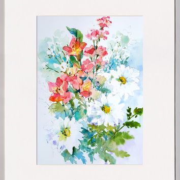 "Mother's Day Flower Painting entitled: ""Oh My Darlings"" - An Original Painting by Linda Henry"