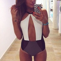 Hollow Strappy Bandage Victoria's Secret Like Women One Piece Swimsuit Bathing Suit Bandage Bikini Set