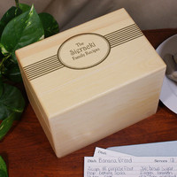 Engraved Family Recipes Personalized Recipe Box