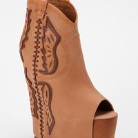 Jeffrey Campbell Gardea Leather Wedge Platform Ankle Boot