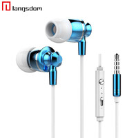 Metal Aluminum Earphones Headphones Best Quality MIC 3.5MM Jack Stereo Bass