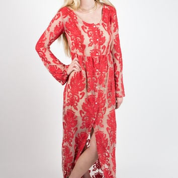 MINKPINK Crime of Passion Maxi Dress