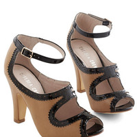 Chelsea Crew Film Noir Sass Up Your Strut Heel in Caramel