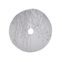 "Monika Strigel ""Frozen"" White Christmas Tree Skirt"