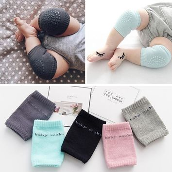 1 Pair Baby Knee Pad Kids Safety Crawling Elbow Cushion Infant Toddlers Baby Knee Support Protector Reborn Baby Toys Play Mats