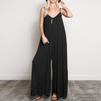 Fashion 2018 Summer ZANZEA Women Jumpsuits Casual Sexy V Neck Strappy Loose Overalls Wide Leg Pants Elegant Solid Work Rompers
