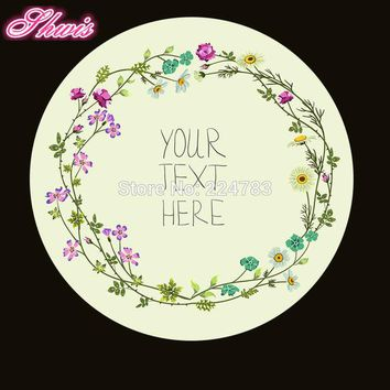 DKF4S 100pcs Custom Wedding Stickers  Paper Seals Bakery Stickers Wedding Decoration Christmas Gifts Can Show Any Text